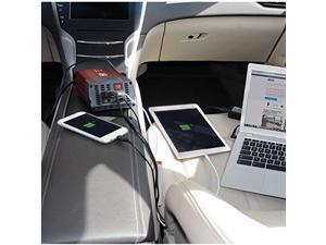 Tripp Lite PV150USB 150 Watts Compact Car Inverter 12V 120V 2-Port USB Charging 1 Outlet - Dc To Ac Power Inverter - 12 V - 150 Watts - Output Connectors: 3
