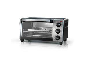 Black & Decker TO1750SB 4-Slice Toaster Oven, Silver & Black