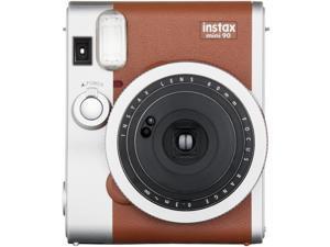 Fujifilm - MINI90BRN CANDY KIT - Instax Mini 90 Camera Brown With 1 Pack Mini Candypop Film