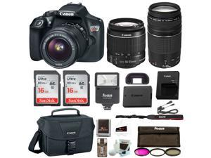 Canon Rebel T6 DSLR Camera Bundle w/18-55mm & 75-300mm Lenses