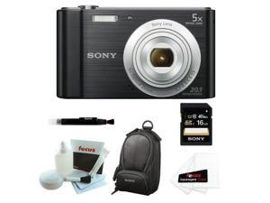 Sony W800 Cyber-shot DSCW800/B Digital Camera (Black) with 16GB Accessory Kit