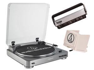 Audio Technica ATLP60 Turntable w Stylus ATN3600L & Knox Vinyl Cleaner