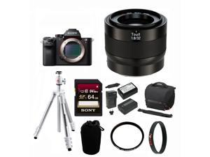 Zeiss Touit 32mm f/1.8 Lens (Sony E-Mount) with Sony Alpha a7RII Mirrorless Digital Camera & Accessory Bundle