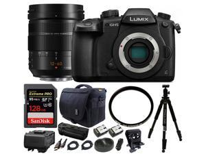 Panasonic Lumix DC-GH5 Mirrorless Filmmaking Kit w/ H-ES12060 Pro lens Bundle