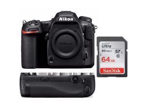 Nikon D500 Format DSLR Camera Body + MB-D17 Battery Grip + Kit