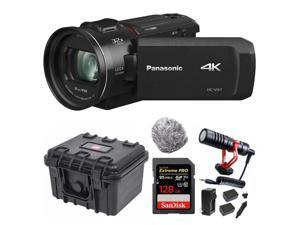 Panasonic HC-VX1 4K Camcorder with 24X Leica Lens with Video Mic Bundle