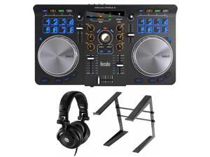 Hercules Universal DJ Controller with Hercules DJ Headphones and Laptop Stand