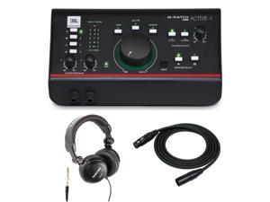 JBL ACTIVE-1 Monitor Controller. W/ Headphones & XLR Female Microphone Cable 2x
