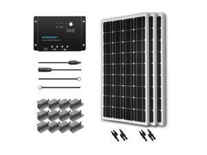 Renogy 300 Watt 12 Volt Monocrystalline Solar Starter Kit with Wanderer