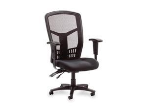 "Lorell 86200 Executive High-Back Chair, Mesh Fabric, 28-1/2"" x 28-1/2"" x 45"" - Black"