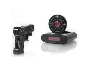 Newest funny gun alarm clock target alarm clock creative clock    Newest-Lock-N-load-Gun-alarm-c