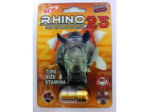 Rhino 25 Titanium 9000 Male Sexual Performance Enhancer (Pack of 12)