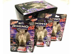 Rhino 69 Extreme 9000 Male Sexual Performance Enhancer (Pack of 12)
