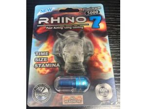 Rhino 7 Platinum 5000 Male Sexual Performance Enhancer (Pack of 6)