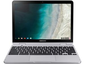 "Samsung - Chromebook Plus 2-in-1 12.2"" Touch-Screen - Stealth Silver (Verizon) - Intel Celeron - 4GB RAM - XE525QBB-K01US"