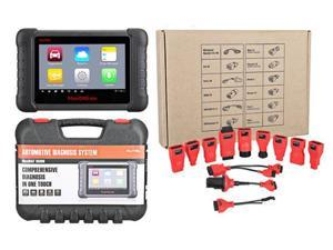Autel Maxidas DS808 Full Set with Full Kit OBDI Adapters/Connectors (Advanced Version DS708) Automotive OBD2 Scanner Diagnostic Tool with Key Coding Multi-language System (Same Function as MS906)