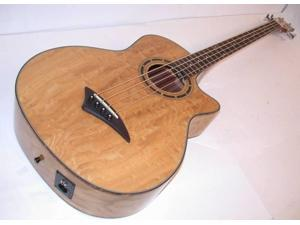 Dean Exotica Quilt Ash Acoustic Electric Bass +Aphex