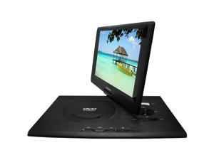 Portable DVD Player with 13.3-Inch Swivel Screen and Built-in Rechargeable Battery