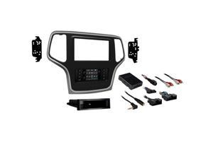 Metra 99-6536S 1 or 2-DIN Dash Kit Jeep Grand Cherokee 2014-up (Silver Trim)