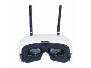 SJ RG01 5.8G 48CH FPV Goggles Dual-Display Diversity DVR with 3.7V 1500mAh Battery - White