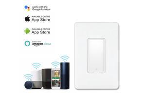 Geekbes WiFi Smart Switch Remote control and scheduled on/off works with amazon alexa google assistant - White