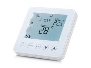 LCD Temperature Controller for Electric Heating, Floor Heating, Carbon Crystal Wall heating (Works with Amazon Alexa Google)
