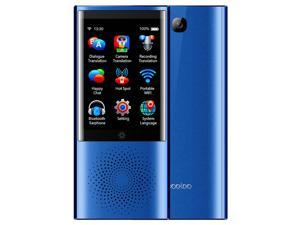 boeleo W1 AI Touch Control Voice Translator 45 Languages 2.4G + 5G WiFi BT4.0 4G SIM 1300 Pixel- Blue
