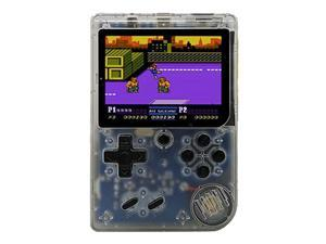 Coolbaby RS-6A Mini Retro Handheld Game Console 3.0 Inch LCD Color Kids Game Player Built-in 168 Games - Transparent White