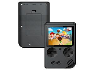 Coolbaby RS-6A Mini Retro Handheld Game Console 3.0 Inch LCD Color Kids Game Player Built-in 168 Games - Black