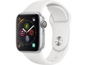 Apple Watch Series 4 (GPS), 40mm Silver Aluminum Case with White Sport Band - Silver Aluminum