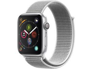 Apple Watch Series 4 (GPS), 44mm Silver Aluminum Case with Seashell Sport Loop - Silver Aluminum