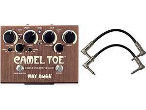 Dunlop WHE209 Way Huge Camel Toe MKII Triple Overdrive Pedal with 2 Patch Cables