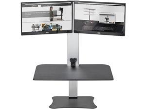 Victor DC450 High Rise Electric Dual Monitor Height Adjustable Standing Desk Workstation