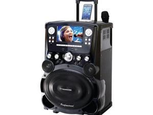 "Professional DVD/CD+G/MP3+G Bluetooth(R) Karaoke System with 7"" TFT Color Screen & Tote Wheels - GP978"