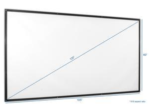 "VIVO 120"" Fixed Frame Portable Roll-up Folding Indoor Outdoor Projection Movie Screen 120-inch 16:9 Ratio (PS-S-120)"