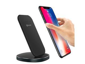 Contixo W3 Fast Wireless Charger Stand for Qi-Compatible Smartphones Including Charging for Samsung S9/S9+/S8/S8+/S7/Note 8 (10W), iPhone X/XR/XS Max, iPhone 8/8 Plus (7.5W) - Adapter Not Included