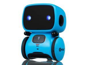 Contixo R1 Kids Mini Talking Smart Robot | Voice Controlled, Sings & Dance, Funny for Adults & Family, Interactive Children's Toy for Boys, Girls, Infants & Toddlers (Blue)