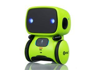 Contixo R1 Voice Controlled Smart Kids Toy Robot   Interactive Talking Touch Sensor Dancing Voice Recording Speech Recognition for Infant Toddler Children Robotics (Green)
