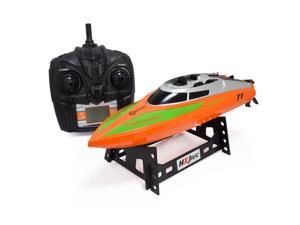 Contixo RC Racing Boat Speedboat Ship | Radio Control Remote Controlled Speed Boat Swimming Pool Toy  - Orange
