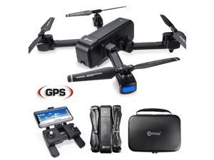 Contixo F22 RC Foldable Quadcopter Drone| Selfie, Selfie, Gesture, 1080p WiFi Camera, GPS, Altitude Hold, Auto Hover, First Person View FPV, Follow Me, Waypoint Includes Compact Drone Storage Carrying