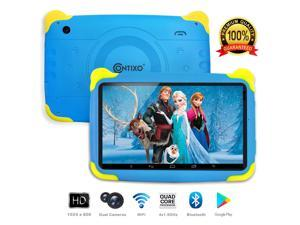 "Contixo Kids Tablet K4 | 7"" Touch Screen Display Android 6.0 Bluetooth WiFi Camera Parental Control Learning Educational Entertainment Tablet for Children Infant Toddlers, Boys & Girls - Blue"