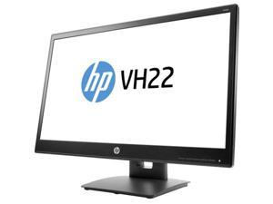 "HP V9E67AA Vh22 21.5"" Black FHD (1920 x 1080) Led Monitor 5 Ms Height Adjustable Stand DVI-D DisplayPort VGA"