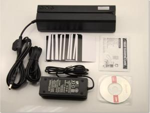 MSR606 Magnetic Stripe Card Reader Writer Encoder Swipe For POS Compatible with MSR206 + 20 Cards