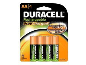 DURACELL 2400mAh 400 Cycles Ni-MH AA Rechargeable Battery, 4-pack