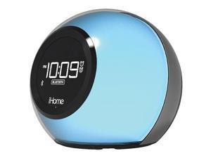 iHome iBT29 Color Changing Dual Alarm Clock Radio With Bluetooth (Black)