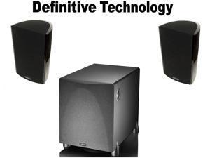 1 Pair Definitive ProMonitor 1000 Bookshelf ProSub Bundle Technology