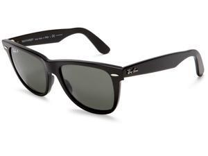23f39b33f Ray Ban Original Wayfarer Acetate Black Frame Green Classic G-15 Lens  Unisex Sunglasses RB2140