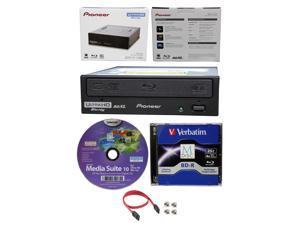 Pioneer 16x BDR-211UBK Internal Ultra HD UHD 4K Bluray BDXL Burner+25GB BD MDisc
