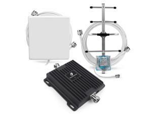 700MHz 4G LTE AT&T Verizon T-mobile Cell Phone Signal Booster with Yagi and Panel Antenna