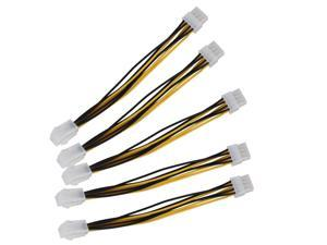5 x ATX 12V EPS CPU Power Cable 4 Pin Male to 8 Pin Female For PC Computer